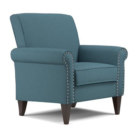 Arm Chair Beds - Jean Arm Chair in Linen in Caribbean Blue