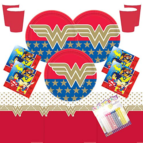 Plates Napkins Cups and Table Cover with Birthday Candles Ninja Theme Birthday Party Supplies Pack Serves 16 Bundle for 16