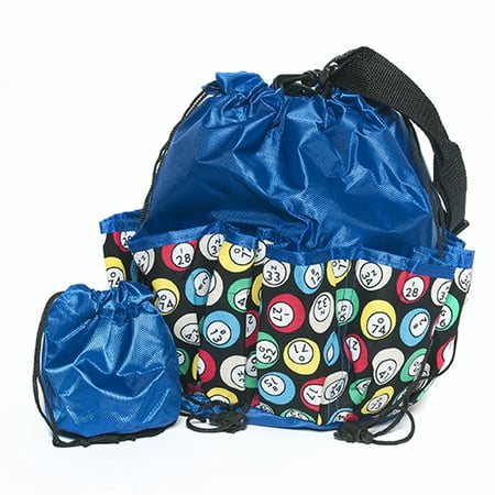 Bingo Bag - Bingo Ball Design - Blue - Bingo Bags Walmart