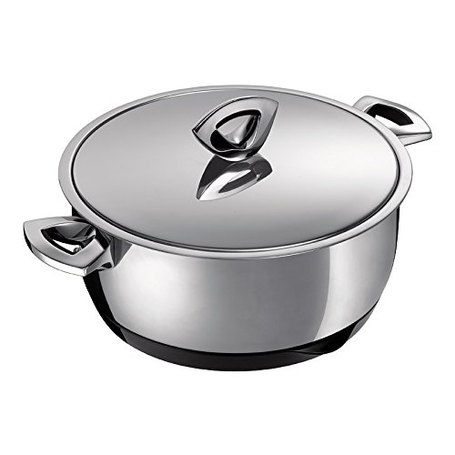 Kuhn Rikon Durotherm Swiss-Made Cookware, Braiser with Lid, 9-Inch 2.5QT by Kuhn Rikon
