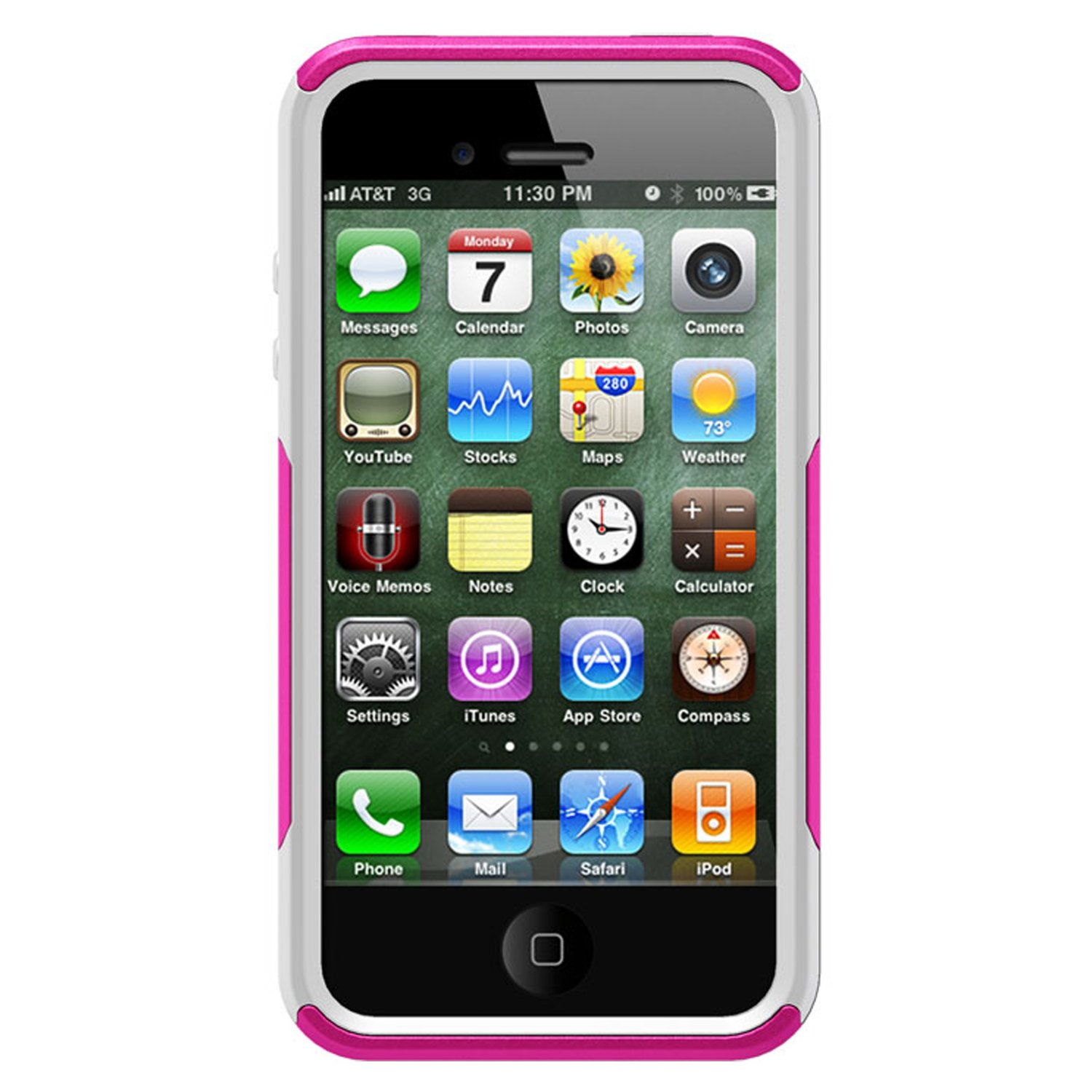 Otter Box iPhone 4S Commuter, Pink/White, iPhone 4/4S