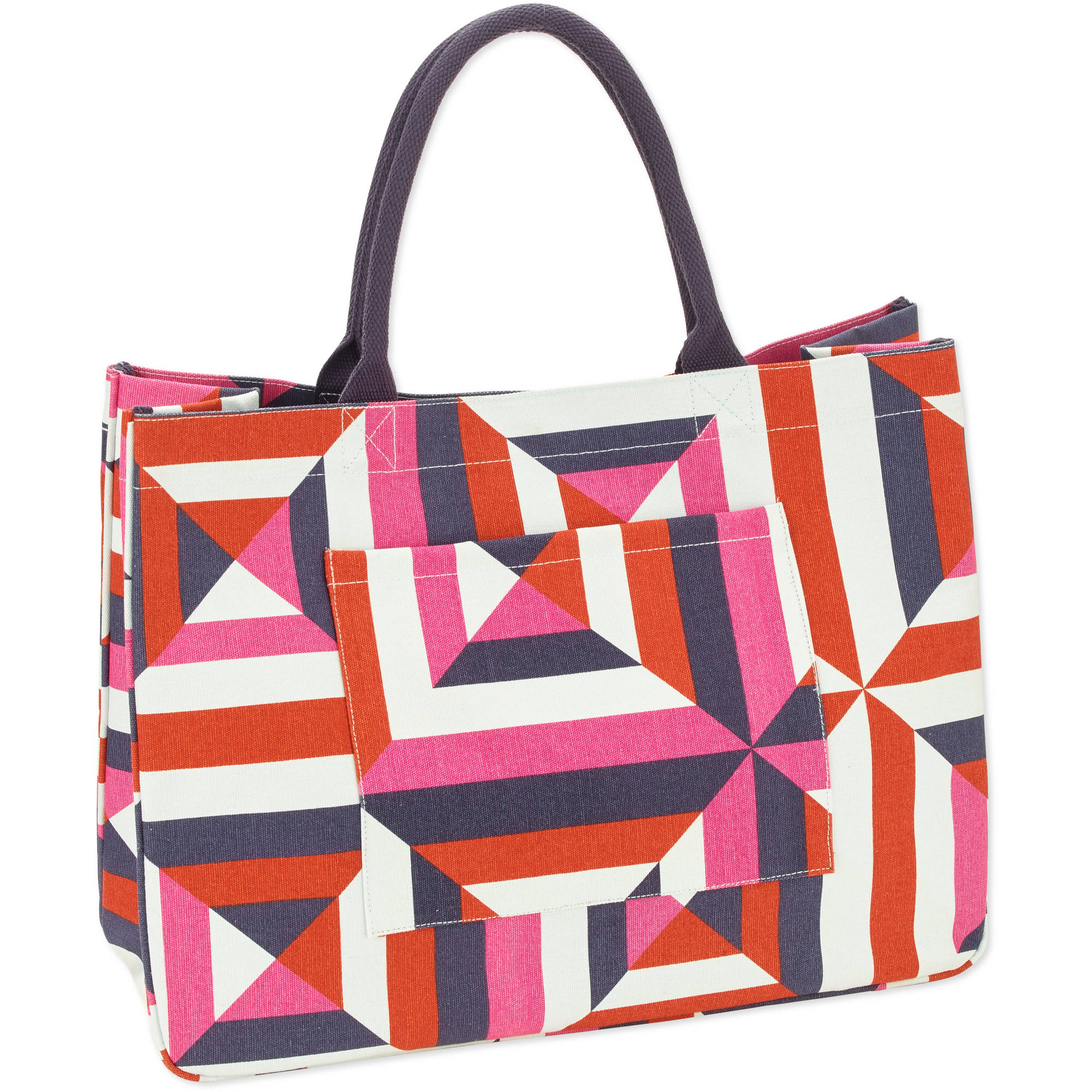 No Boundaries 20''Women's Printed Canvas Tote Beach Bag