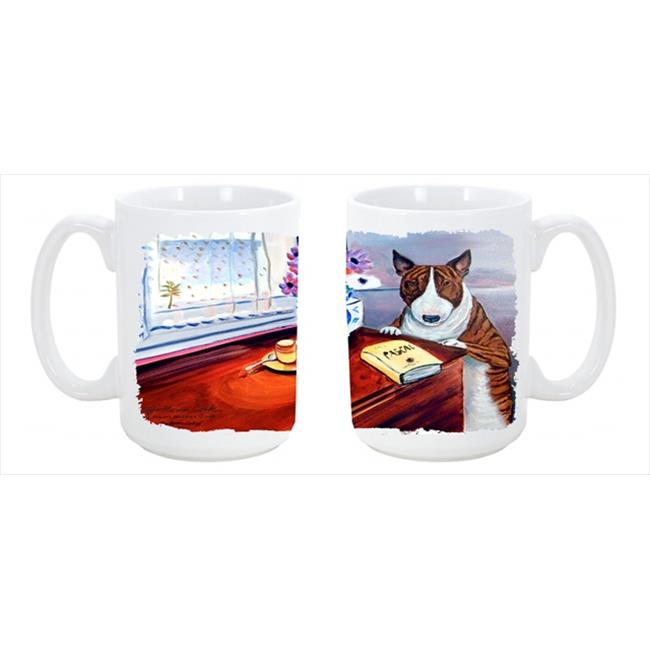 Bull Terrier Dishwasher Safe Microwavable Ceramic Coffee Mug 15 oz. - image 1 of 1