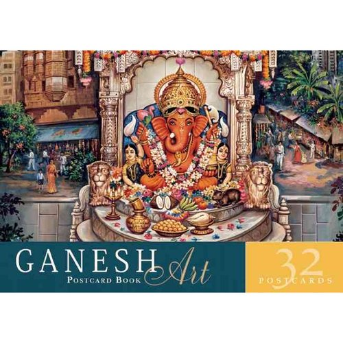 Ganesh Art Postcard Book: 32 Postcards