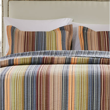 Global Trends Boho Stripe Quilted Pillow Sham ()