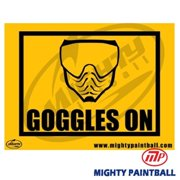MP - Mighty Products MP-FE-S004 Paintball Safety Sign - Goggles On