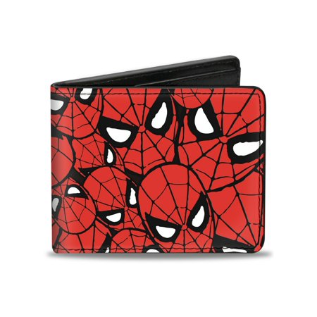 Spider-Man Marvel Comics Superhero Mask Collage Bi-Fold Wallet