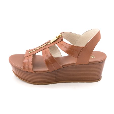 330797709b6 MICHAEL Michael Kors - Michael Kors Women s Berkley Mid Leather Platform  Wedge Sandals - Walmart.com