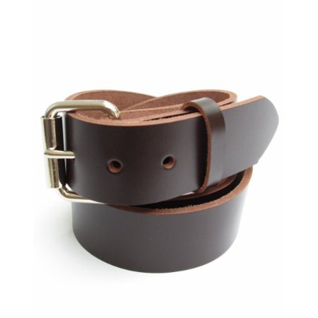 Heavy Duty Dark Brown Mens Leather Belt 1 1/2