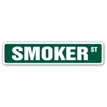 SMOKER Street Sign cooker bbq bar-b-que grill grilling | Indoor/Outdoor | 24
