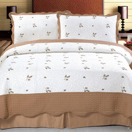 Somerset Home Embroidered Quilt Bedding Set Peyton