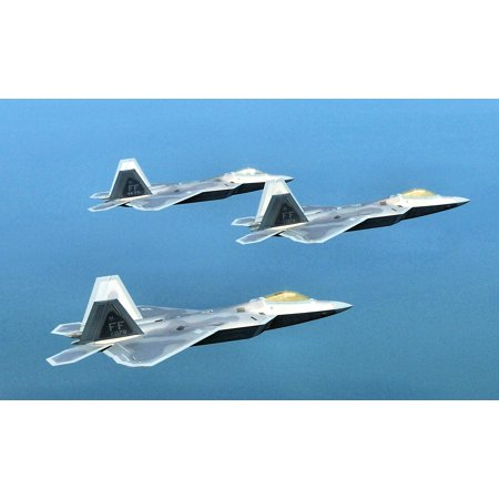 LAMINATED POSTER F-22A Raptor pilots with the 94th Fighter Squadron at Langley Air Force Base in Virginia, fly in 10 Poster Print 24 x -