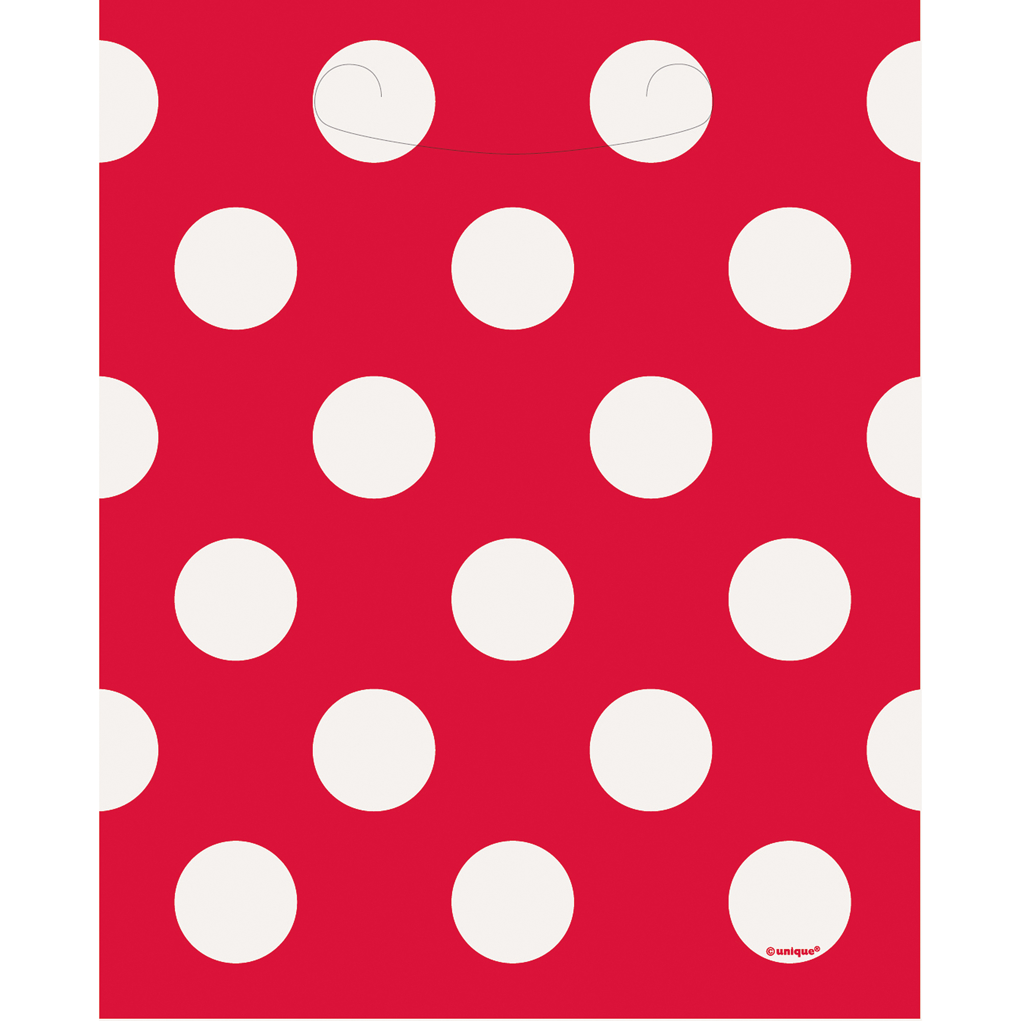 Red Polka Dot Treat Bags (8 ct)