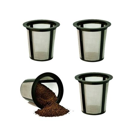 Medelco Keurig K-Cup Brewers Single Serve Coffee Filter Replacement, 4 Ct