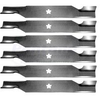 "(6) Replacement Craftsman Poulan Husqvarna Mower Blades for 54"" Decks 187254 187256"