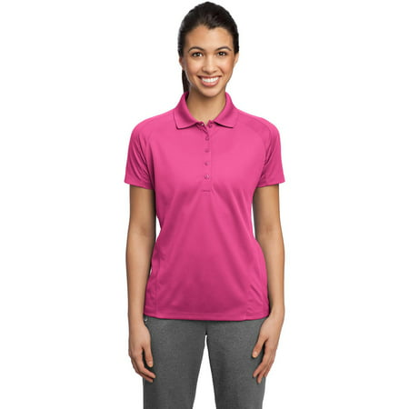 Sport-Tek L474 Ladies Dri-Mesh Polo Shirt - Pink Raspberry - 3X-Large
