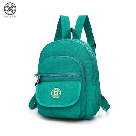 Luxtrada Mini Backpack Waterproof Nylon Rucksack Travel School College Bookbag Shoulder Purse for Women & Girls (Green)](Justice Bookbags For Girls)