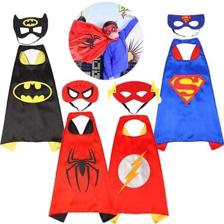 Superhero Dress up Costumes Kids Cartoon Capes Set with Masks for Party Boys Birthday](Superhero For Kids)