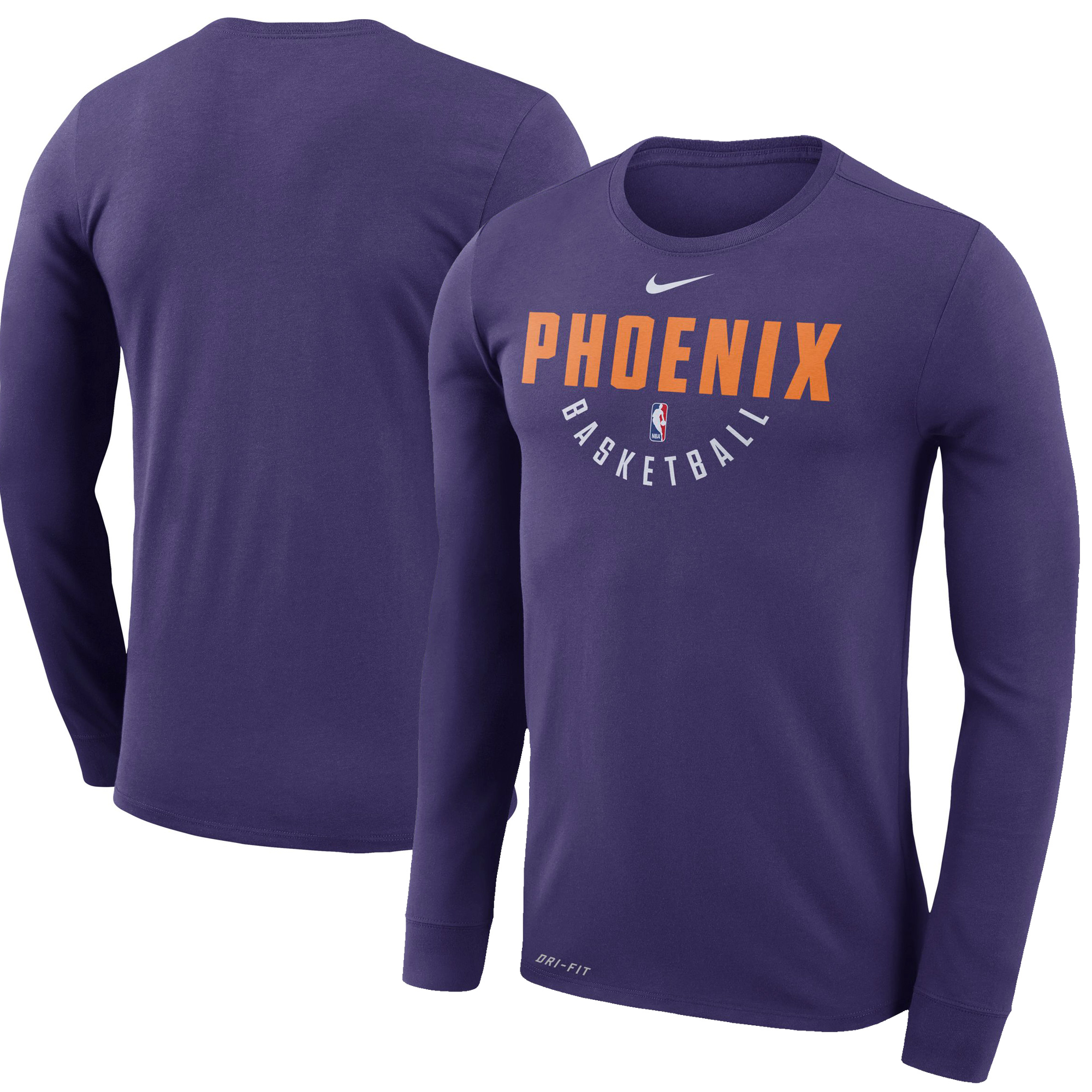 Phoenix Suns Nike Practice Long Sleeve Performance T-Shirt - Purple