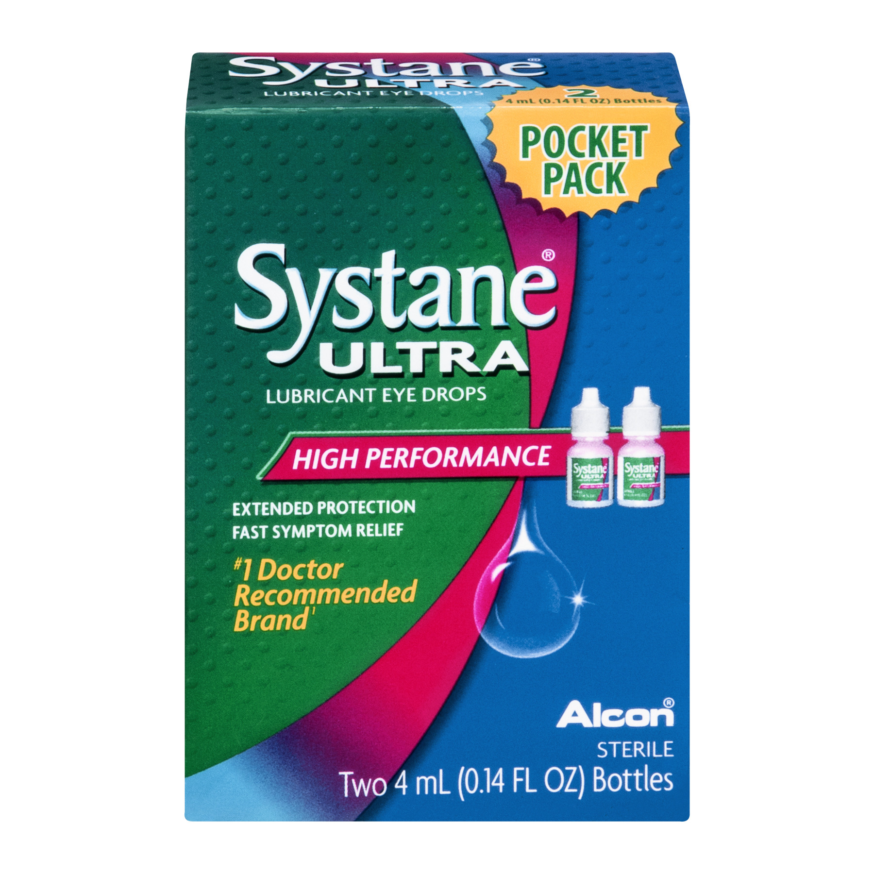 Systane Ultra Eye Drops Lubricant High Performance, 0.14 FL OZ
