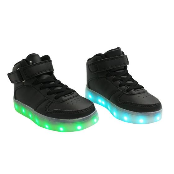 4c5b3f38b9d Galaxy Shoes - Galaxy LED Shoes Light Up USB Charging High Top Kids ...