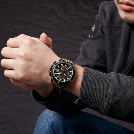 MEGIR Fashion Sport Men Watches 3ATM Water-resistant Quartz Luminous Man Wristwatch Relogio Musculino Chronograph Calendar - image 3 of 3