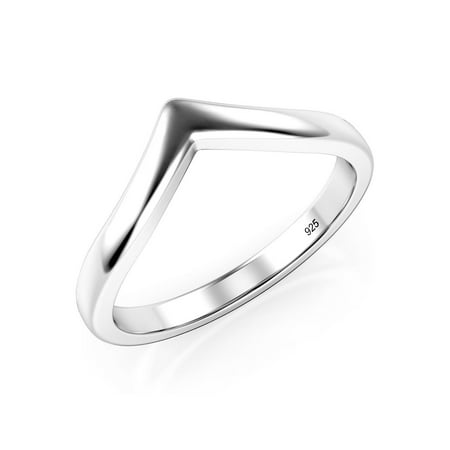 Sz 7 Sterling Silver 925 Chevron Stackable Ring