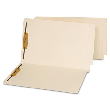 Universal End Tab Folders, Two Fasteners, Legal, Manila, 50/Box -UNV13220