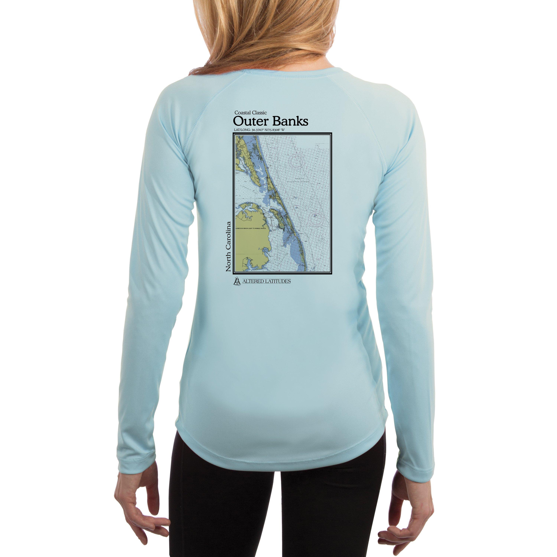 60b828e05 Altered Latitudes - Outer Banks Chart Women s UPF 50+ Sun Protection Long  Sleeve T-shirt X-Small Pink Blossom - Walmart.com