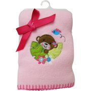 "Garanimals Girls' 40"" x 30"" Fleece Blanket, Pink"