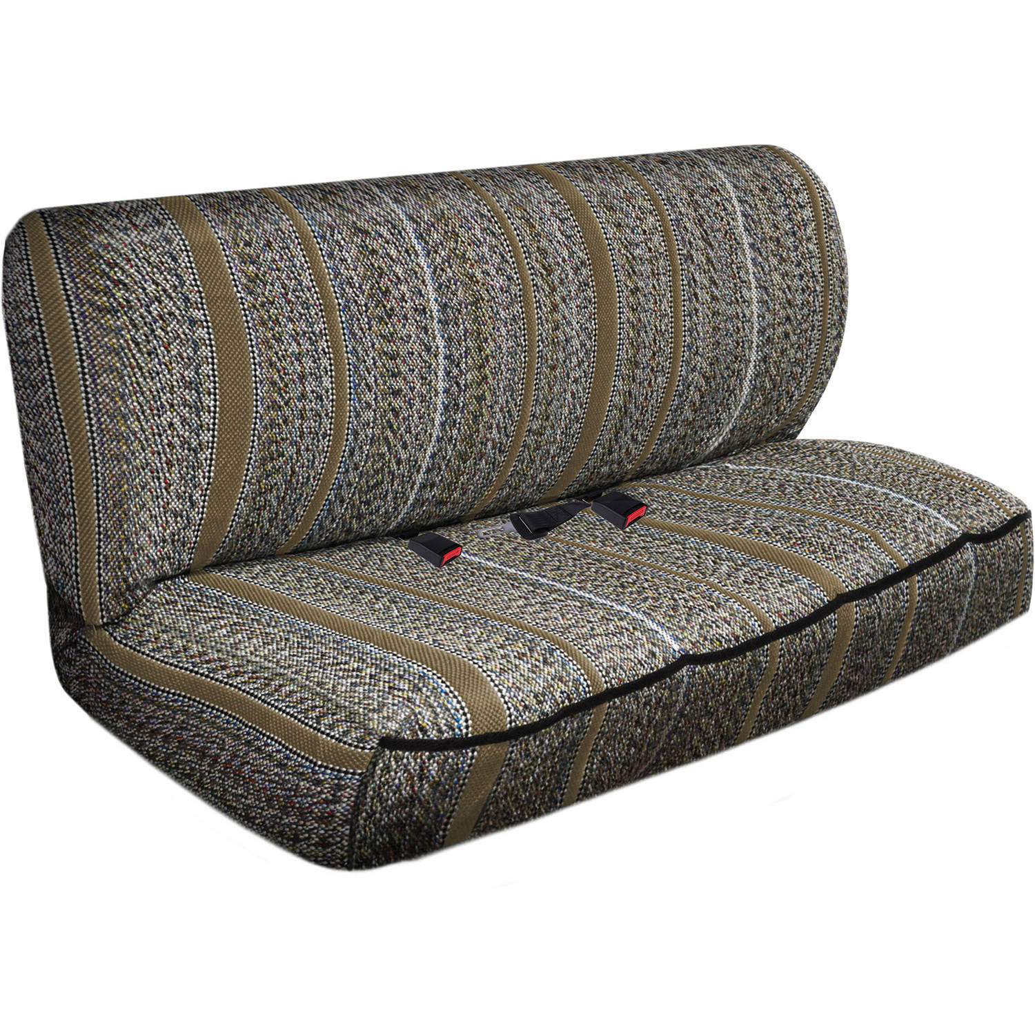 OxGord 2-Piece Full Size Heavy Duty Saddle Blanket Bench Seat Covers, Tan
