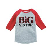 7 ate 9 Apparel Girl's Big Sister Red Baseball Tee 18 Months