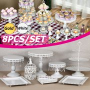 3 Tier 1/8/10 pcs Cake Stand Set Cupcake Stand Tree Durable Clear Tower Cup Cake Display Cake Tower Dessert Stand Tea Party Serving Platter