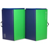 We Sell Mats Folding Personal Fitness Exercise Mat, 4' x 8' Lime Green-Blue