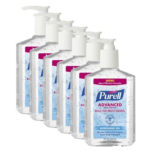 Purell Advanced Refreshing Gel Hand Sanitizer, 8 fl oz (6 pack)