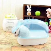 Dustproof Plastic Cute Small Pet Hamster Bathroom Sauna Bathtub Playing Box