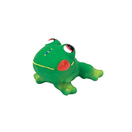 Coastal Pet Rascal Latex Frog Squeak Dog Toys Massage Gum Fetching Chew Green Squeak Dog Pet Toy