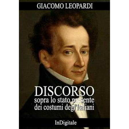 Discorso sopra lo stato presente dei costumi degl'Italiani - eBook