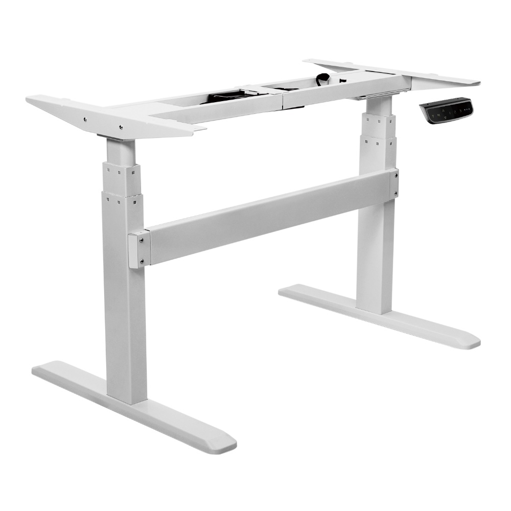 Bordeaux electric standing desk frame sit stand desk frame in silver stand up desk for home and office