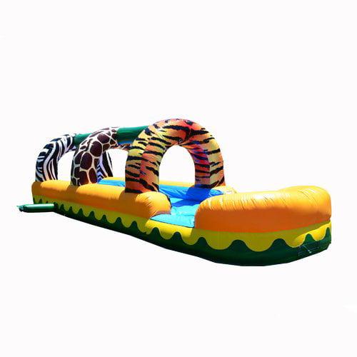 JumpOrange Jungle Zoo Slip Inflatable Slide