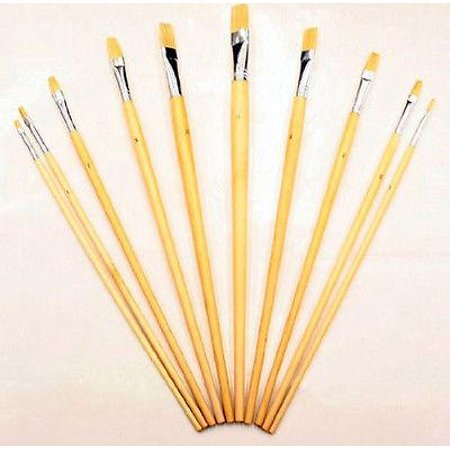 10 Piece Large Artist and Craft Art Paint Acrylic Oil Brush Set Painting Brushes - Artist Paint Brushes