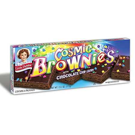 Little Debbie Cosmic Brownies /Dark Fudge with Candy Coated Chocolate Chips 13.1 oz Box