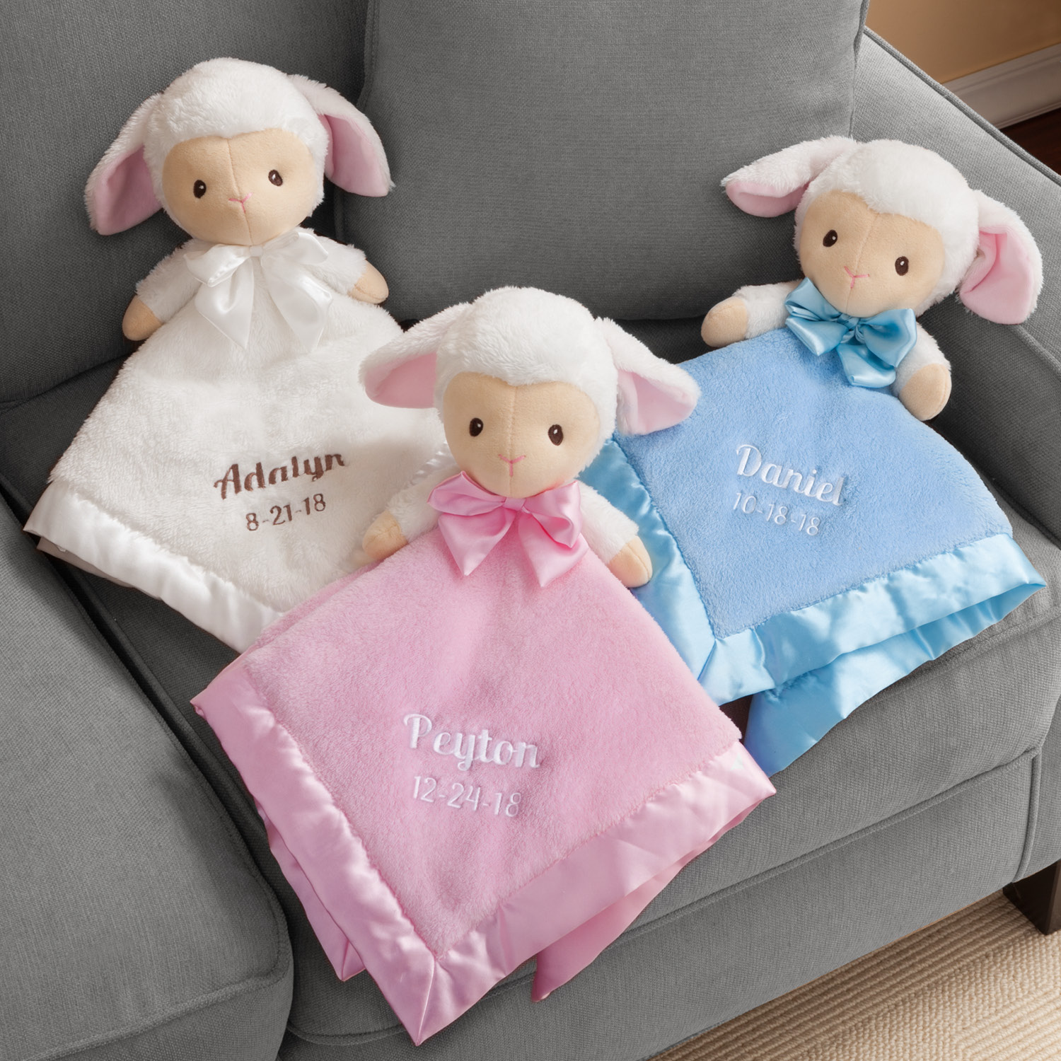 Personalized Baby Lamb Blankie