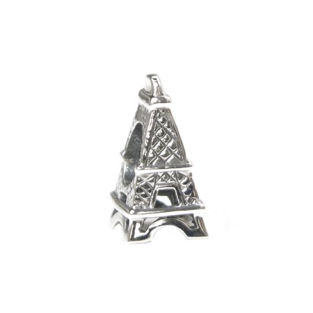 Queenberry Sterling Silver Paris Eiffel Tower European Style Bead Charm Fits (Tower Charm)