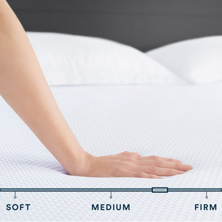 Sleep Innovations Marley California King 10 Inch Cooling Gel Memory Foam Mattress in a Box - Medium Firm - Pressure Relieving