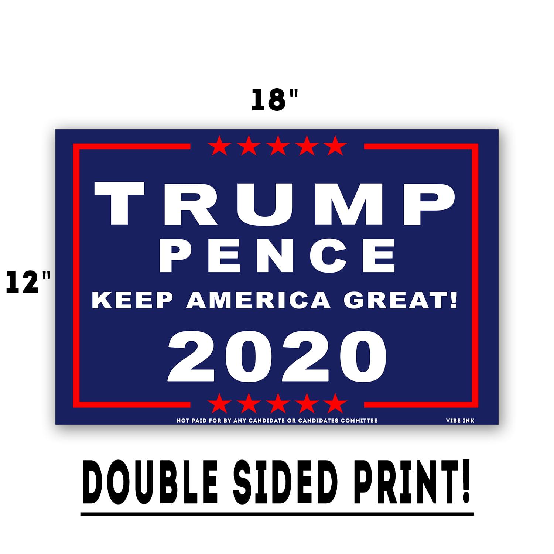 "TRUMP PENCE 2020 9/"" x 12/"" ALUMINUM Sign"