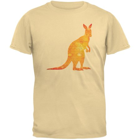 Australian Spirit Animal Kangaroo Yellow Haze Adult T-Shirt ()