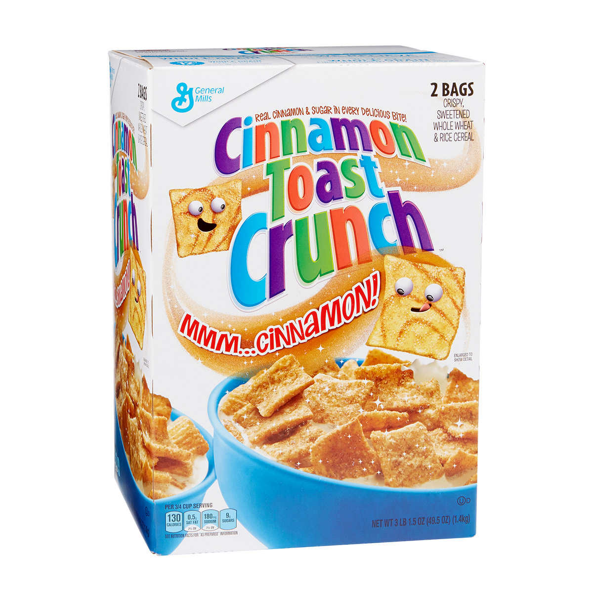 General Mills Cinnamon Toast Crunch Cereal, 49.5 oz.