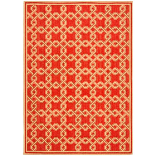Safavieh Martha Stewart Red/Creme Area Rug