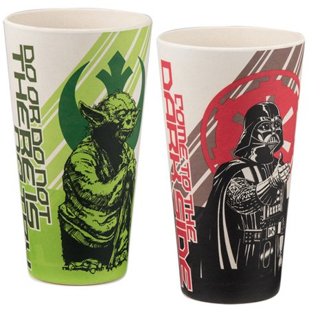 Vandor LLC Star Wars  2 Piece 24 oz. Water/Juice Glass Set - Star Glasses